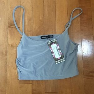 Boohoo cropped tank top